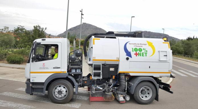Camió de la neteja a Torroella
