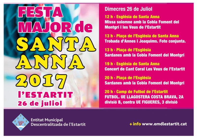 Cartell de la Festa Major de Santa Anna de l'Estartit | 2017
