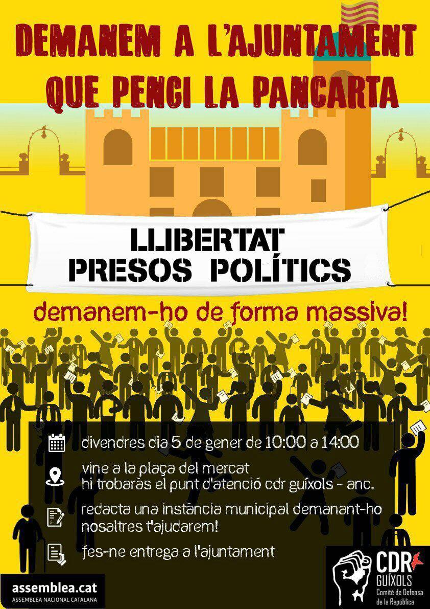 Llibertat Presos Polítics Sant Feliu Instància Ajuntament