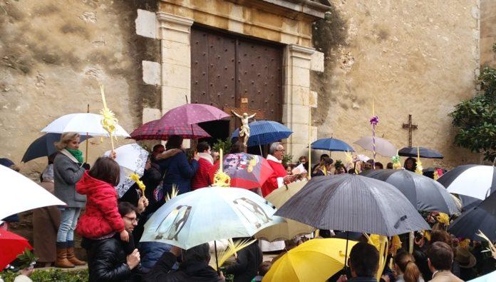 Benediccio de Rams de Begur a l'esglesia de Sant Pere i no a l'ermita de Sant Ramon