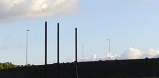 Rotonda de Palamós on hi havia els llaços grocs i les estelades | Imatge de Ràdio Capital