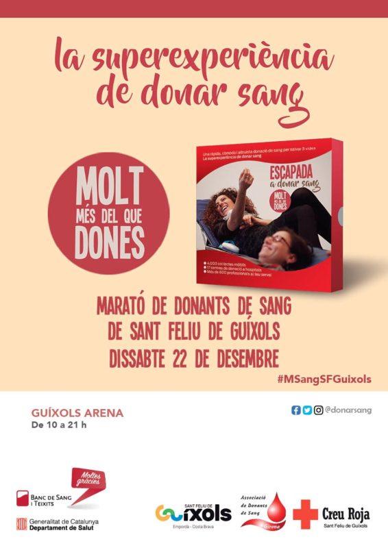 Cartell de la Marató de donants de sang de Sant Feliu