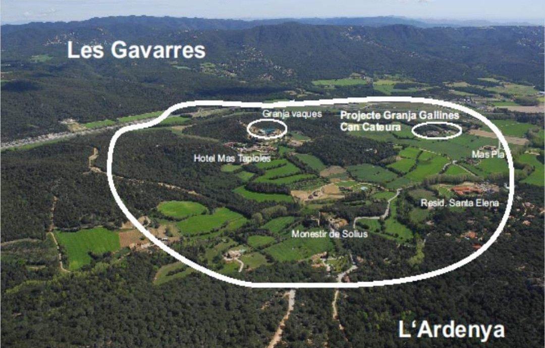 Zona on s'ha de construir segons el nou POUM de Santa Cristina d'Aro   Imatge de SOS Costa Brava