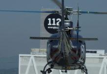 Helicòpter sobrevolant el centre de trucades de Catalunya CAT112 a Reus   Imatge de Protecció Civil
