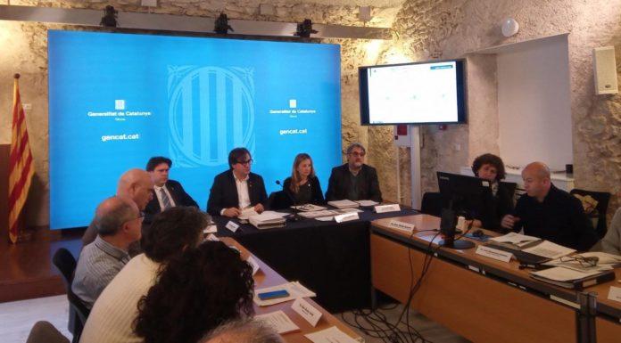 Roda de premsa de la segona moratòria urbanística a la Costa Brava | Imatge de la Generalitat de Catalunya
