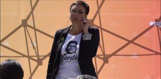 Montse Bassa en un acte d'Esquerra Republicana de Catalunya