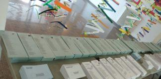 Paperetes de les eleccions municipals i europees 2019 en un col·legi electoral de Palafrugell