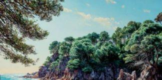 privat:-l'artista-josep-maria-sola-porta-els-seus-paisatges-a-les-escoles-velles-de-begur