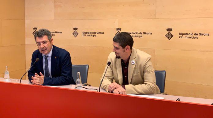 Miquel Noguer i Pau Presas a la Diputació de Girona | Imatge de la Diputació