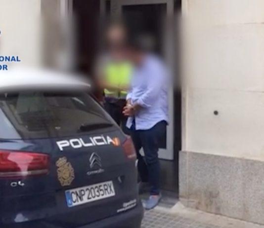 La Policia Nacional en el moment de la detenció | Imatge de la Policia Nacional