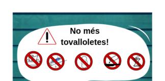 """privat:-campanya-de-sensibilitzacio-""""no-mes-tovalloletes"""",-a-begur"""