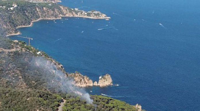 Incendi forestal a Sant Feliu de Guíxols   Imatge dels Bombers de la Generalitat