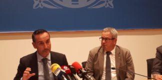 Joan Pere Gómez Comes, gerent de Ports de la Generalitat de Catalunya en una roda de premsa   Imatge de Ports de la Generalitat