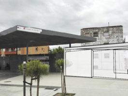 Fotomuntatge de les obres de millora a l'estació de bus de Torroella de Montgrí   Imatge de la Generalitat de Catalunya